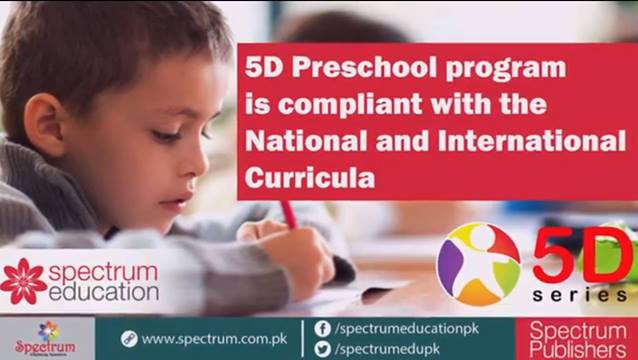 5D Preschool program is compliant with the National and International Curricula