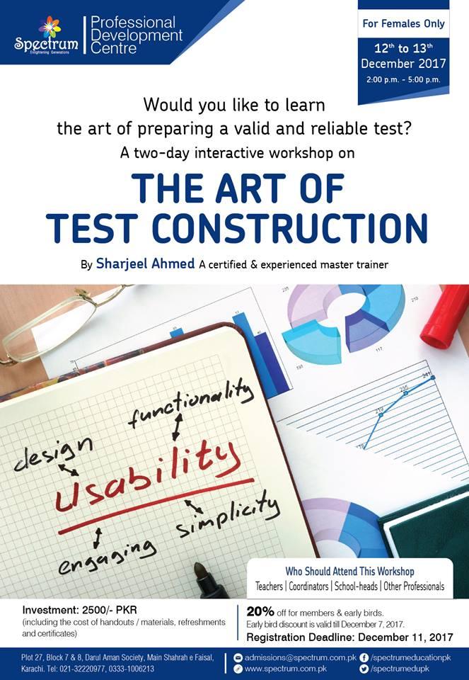 <b>THE ART OF TEST CONSTRUCTION</b>